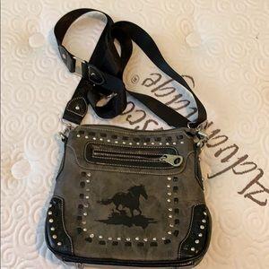 Gray Montana West Crossbody Bag.